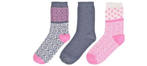 Ladies Foxbury 3 Pair Pack Cotton Blend Socks With Light Elasticatd Top SK516