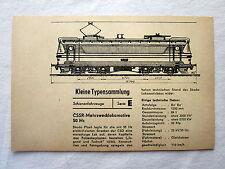 DDR Kleine Typensammlung Schienenfahrzeuge - CSSR-Mehrzwecklokomotive 50 Hz