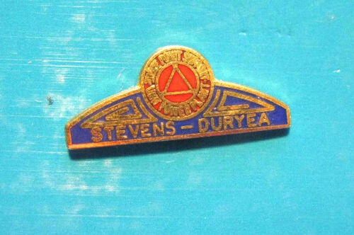 hat pin DURYEA  AUTOMOBILE CO. lapel pin  tie tac hatpin GIFT BOXED STEVENS