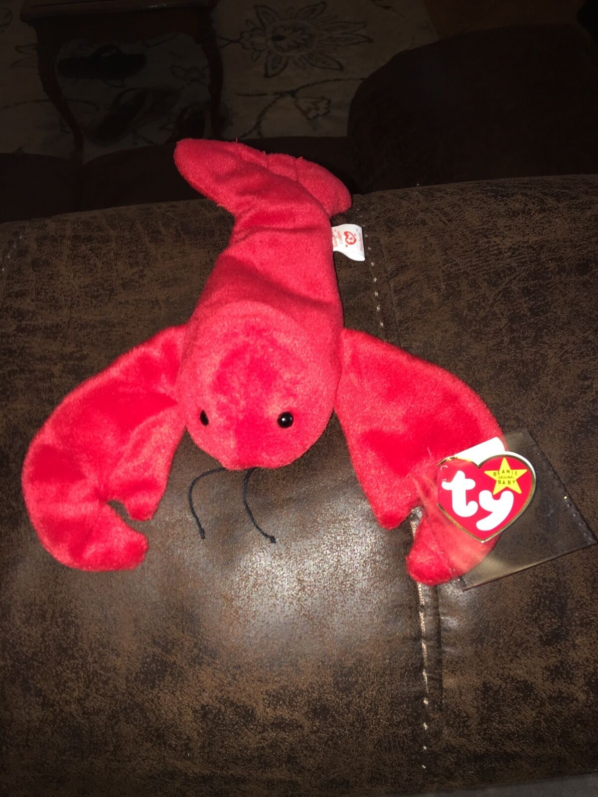 Original mint condition pinchers beanie baby from original 9 with pvc pellets