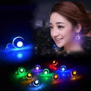 Frauen-leuchten-LED-blinkt-baumeln-Ohrringe-Ohrstecker-Club-Party-Schmuck