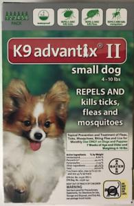 K9 Advantix Ii Flea Tick Medicine Small Size Dog 6 Month Supply Pack