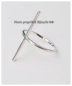 Bague-Forme-Croix-en-Argent-Massif-925-1000-Taille-choix-Poinconne-Bijoux-femme