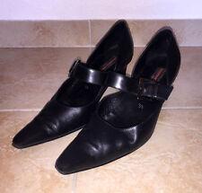 Damen Schuhe Lloyd Gr. 38,5 Pumps Absatzschuhe Business - Leder - schwarz