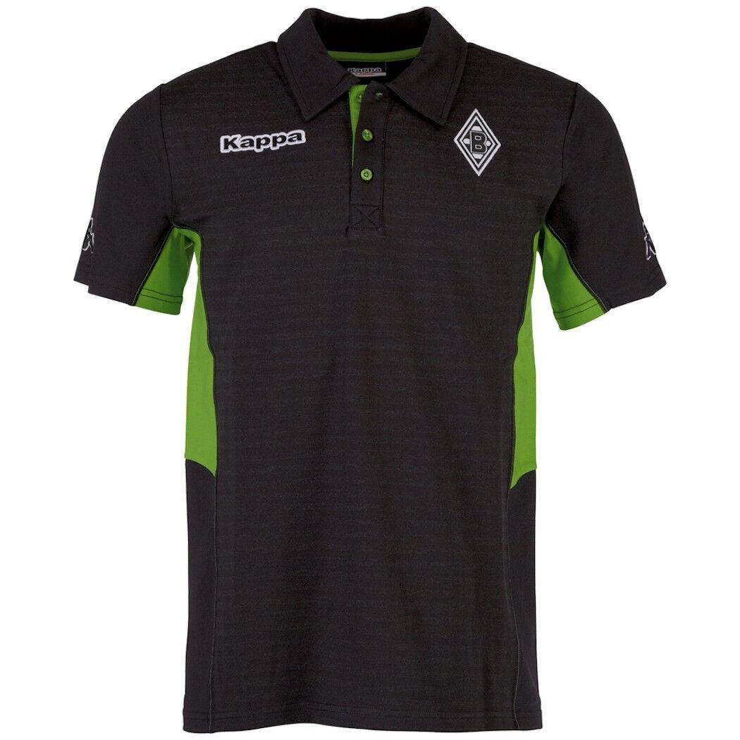 Kappa Kappa Kappa Borussia Mönchengladbach Freizeit Poloshirt schwarz ab6c6e