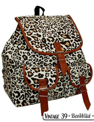 Trendiger sehr geräumiger Rucksack VINTAGE Schulranzen Schultasche UNISEX !NEU!