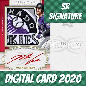 Topps Bunt 20 Nolan Arenado Definitive Relic Jumbo Signature 2020 Digital Card