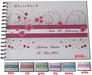 Gaestebuch-Geburtstag-Geschenk-Karte-Dekoration-27-30-35-40-43-50-55-60-Punkte