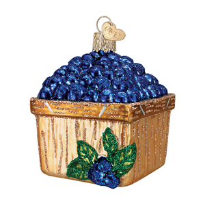034-Basket-of-Blueberries-034-28102-X-Old-World-Christmas-Glass-Ornament-w-OWC-Box