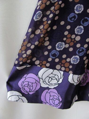 BENETTON Rock Sommer Minirock Kurzrock Satine Blumen Gr.36 blau lila
