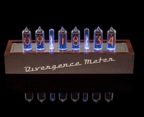 Divergence Meter Vintage NIXIE Tubes Clock, GRA/&AFCH IN-14 Fine Grid USB