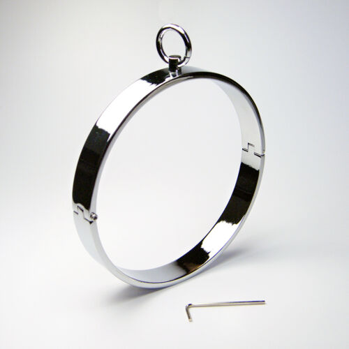 Necklace Locking  Flat Collars Lockable Neck Ring Roleplay Female Costume