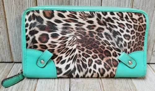 Animal Print Multi Color Bifold Women WalletCowhide Leather Coin Purse Clutch
