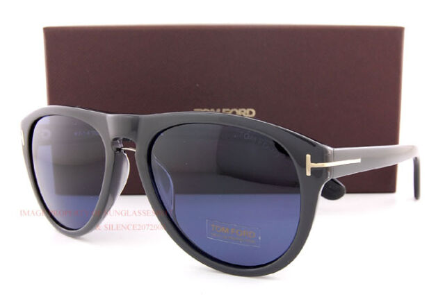 Brand New Tom Ford Sunglasses TF 9347  50J Black/Blue for Women