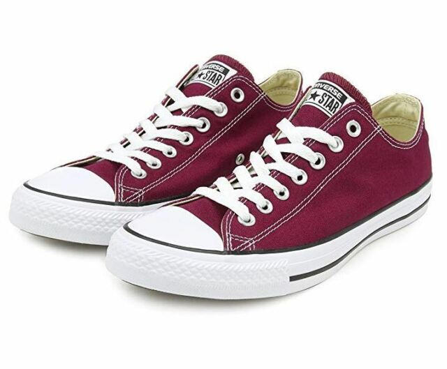 fc356ece4647 Converse Basic Chucks All Star Ox M9691c Maroon 9 for sale online