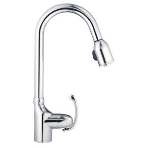 Details about Danze D454520 Anu Single-Handle Pull-Down Sprayer Kitchen  Faucet in Chrome