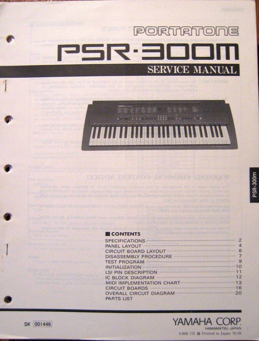 Yamaha Psr 300m Portatone 61 Key Electronic Keyboard W Power Supply Piano Parts Diagram Norton Secured Powered By Verisign
