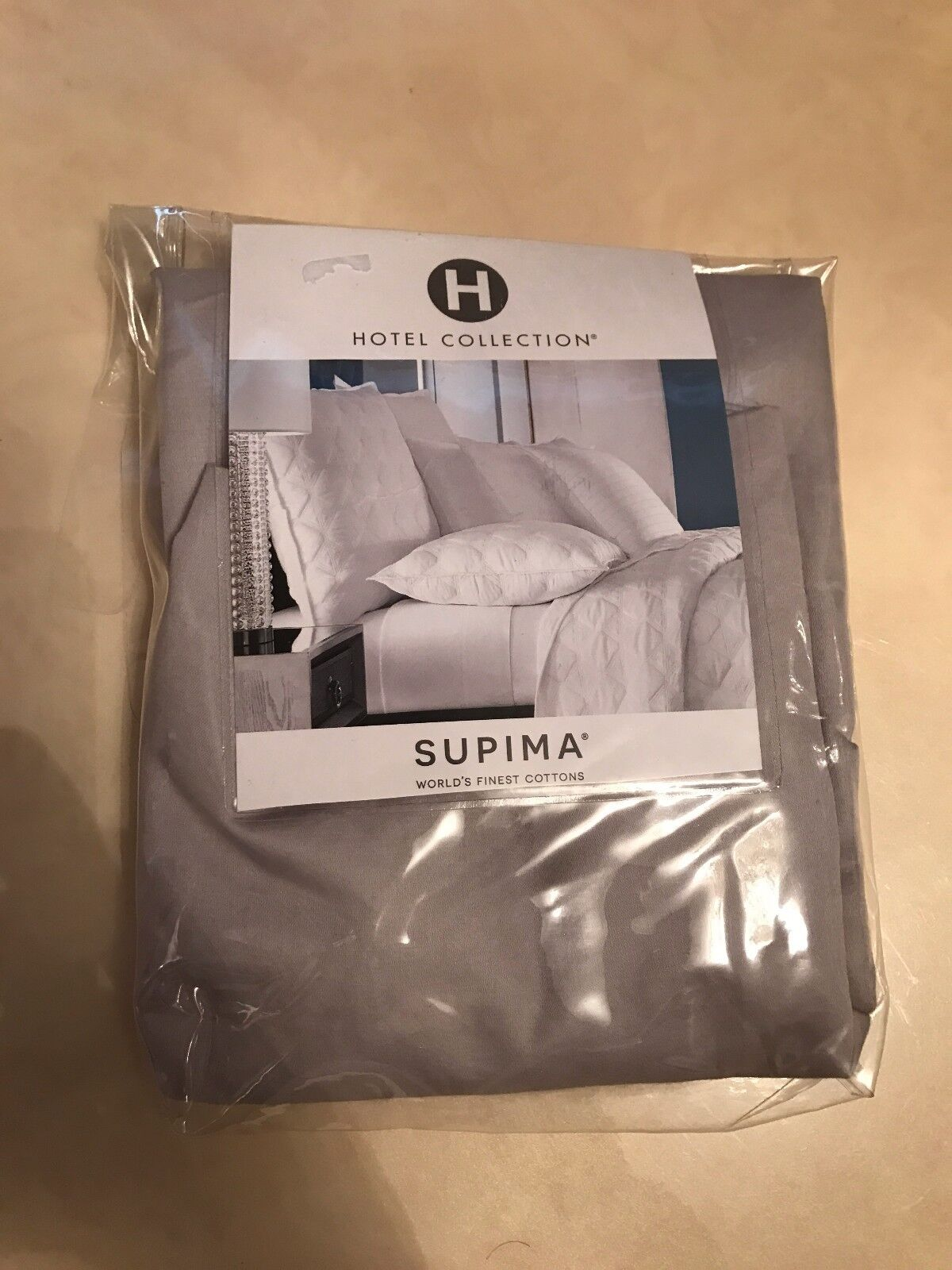 Hotel Collections Supima Pillow Sham 680 thread count Luxary grey brand new