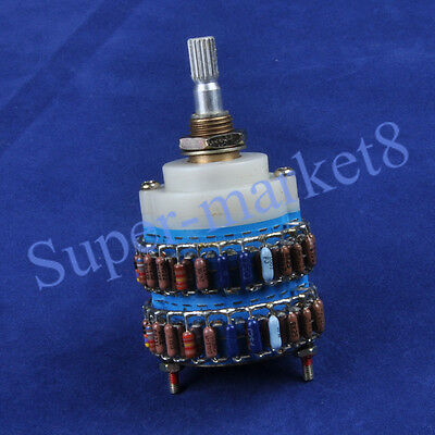 4pole 24 Step DALE Attenuator Volume Pot Stereo Dual Potentiometer 10K,Y