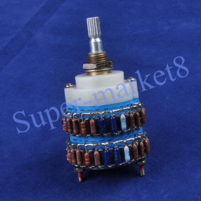100KAX2 DALE 4×24 Step Attenuator Volume Potentiometer Dual-100K Ladder Type