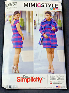 Simplicity 8451 Dress Lined Coat Sewing Pattern