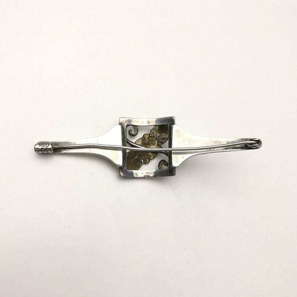 Broche, sølv, Sølv broche 830S GSK skønvirke