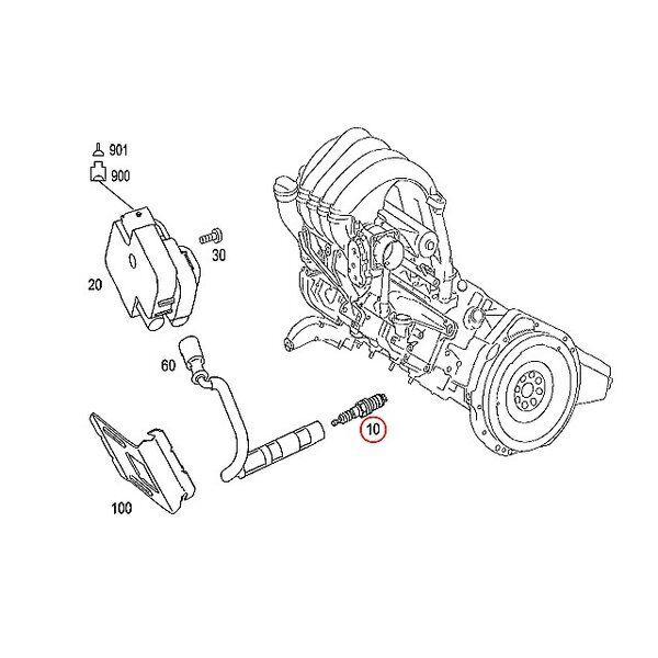 ORIGINALE Mercedes-Benz A-Class W169 W245 SERIE B SPARK PLUGS SET di 4 a0041593003