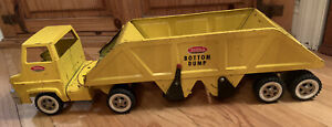 Vintage-1960-039-s-Tonka-Truck-Gas-Turbine-Bottom-Dump-Trailer-Pressed-Steel-RARE