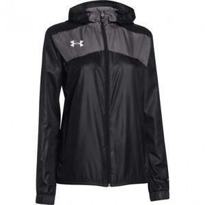 Under Armour Women's Futbolista Shell Jacket, Black, 1270785, Black Loose Fit