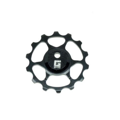 Gearoop 4.7mm 16t Eccentric Pulley Lower Black Aluminum7075 Full Ceramic Bearing