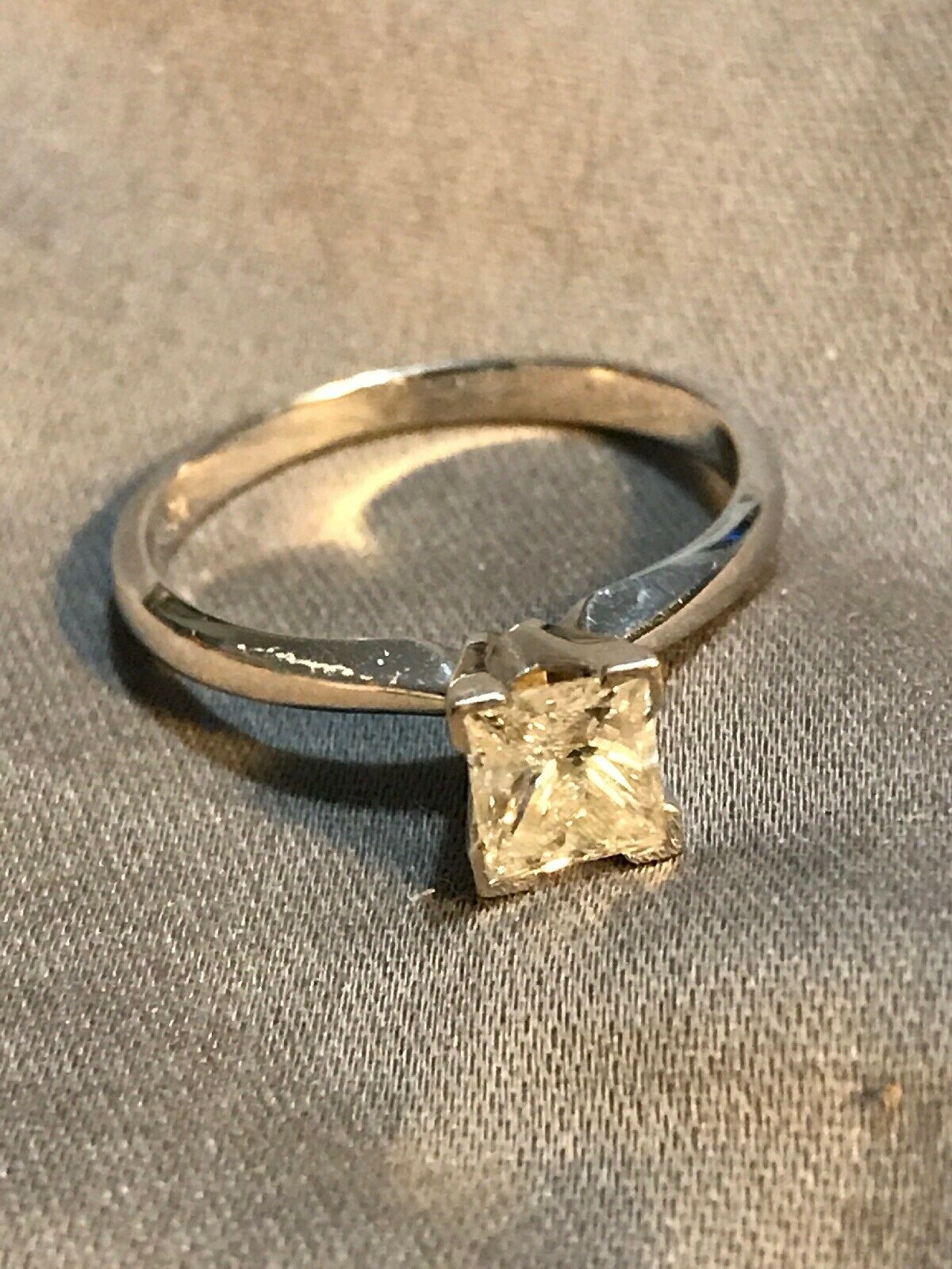 .70 White gold Princess Engagement ring