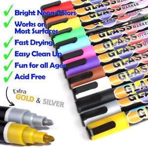 12 Colors 6mm Dual Nib Liquid Chalk Highlighter Fluorescent Neon Marker Pen Set Ebay