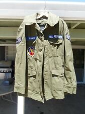 Vietnam US Air Force USAF Field Jacket OG107 Sateen Small patches 1967 named TAC