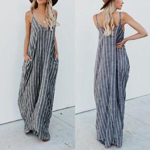 Women-Plus-Size-Strappy-Striped-Long-Maxi-Sundress-Party-Club-Beach-Cami-Dress
