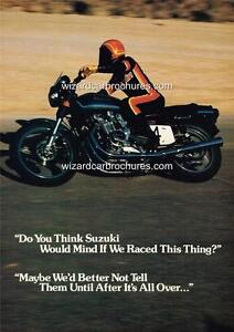 1977 SUZUKI GS750 MOTORCYCLE A3 POSTER AD ADVERT ADVERTISEMENT