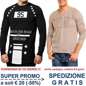 Maglia-da-Uomo-con-Stampe-Maglietta-T-Shirt-a-Maniche-Lunghe-Moda-Casual-Fashion