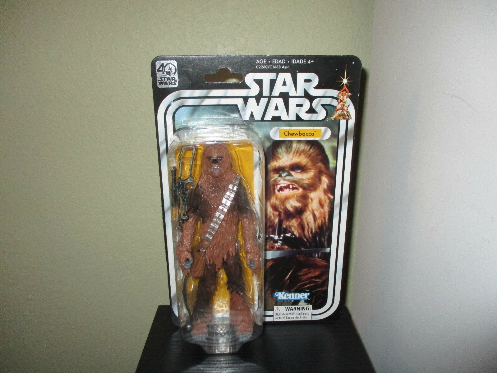 Star Wars 40th Anniversary Chewbacca 6 inch New     Never been opened   d843f4