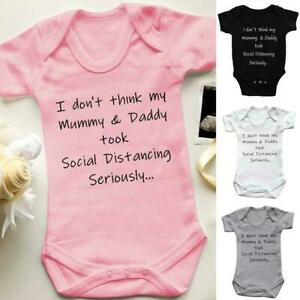 MY-MUMMY-DADDY-Baby-Boys-Girls-Jumpsuits-Mother-Plus-Bodysuits-Cute-M1V9