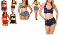 Suddenly Slim Catalina Women's Slimming High-waisted Bikini 2-pc Retro