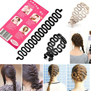 UK-Hair-Twist-Styling-Roller-Plait-Hair-Braiding-Tool-Magic-Hook-new