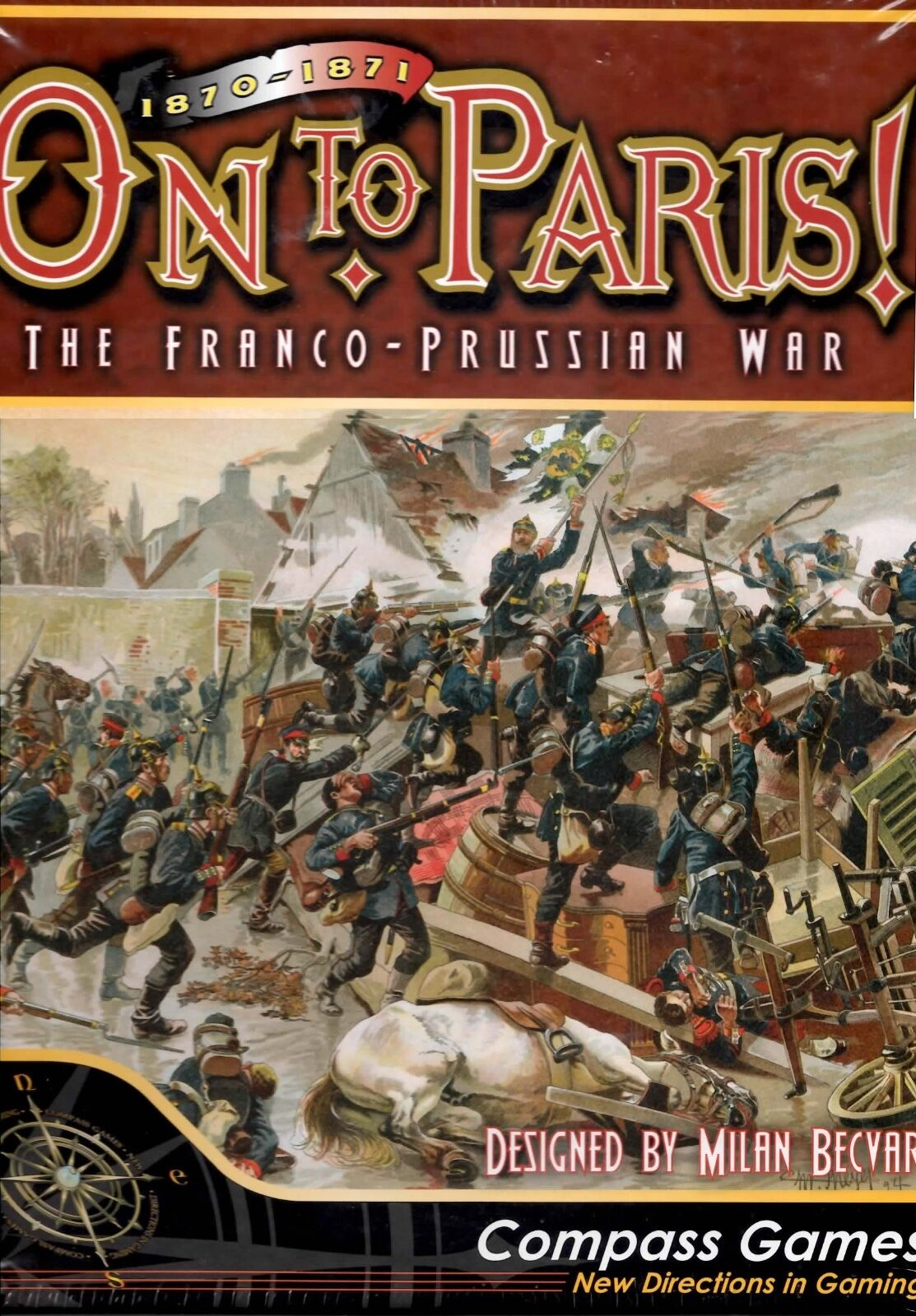 Compass Games On to Paris  The Franco-Prussian War 1870-1871 New shrink-wrap
