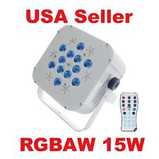 Flat Slim 15W 5 in 1 LED RGBAW Par can puck style DMX Light 180w uplighting NEW