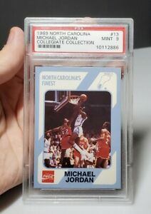 1989-North-Carolina-13-Michael-Jordan-Collegiate-Collection-PSA-9-Mint