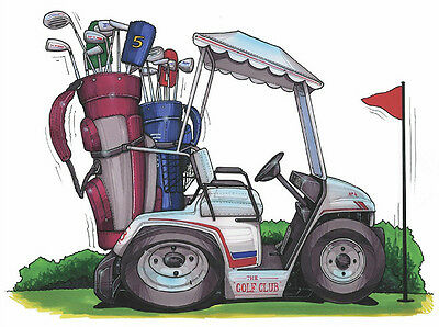 Golf Cart Printed Koolart Cartoon T Shirt 651 Ebay