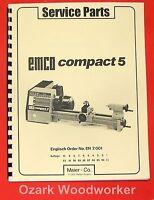 Emco Compact 5 Metal Lathe Parts Manual 0303