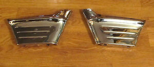 NEW pr  ** Made in USA ** 1956 CHEVY FENDER EXTENSIONS CHROME