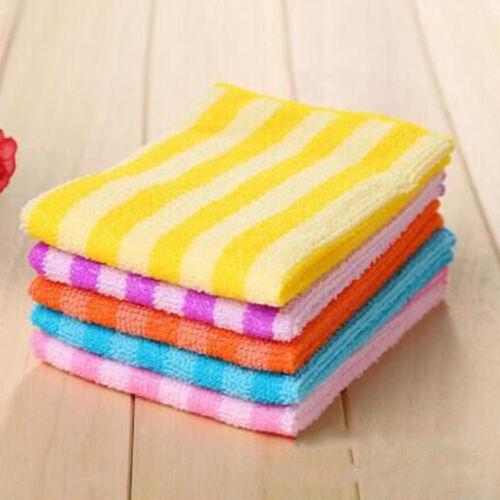 5PCS Lot Microfiber Dishcloth Square Kitchen Washing Cleaning Towel Dish Clo HK