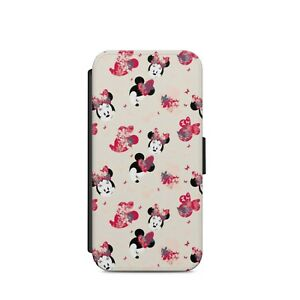 Vintage-Disney-Minnie-Mouse-Floral-FLIP-WALLET-PHONE-CASE-COVER-Iphone-and-SAMSU