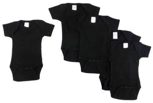 Baby Onsies 5PC Comfrtable Newborn Infant Bodysuits Black Rompers 0-6 Months