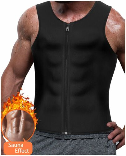 Mens Neoprene Sauna Thermo Sweat Body Shaper Waist Trainer Slimming Corset Vest
